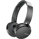 Sony XB650BT Wireless On-Ear Bluetooth Headphones with 30mm drivers, NFC, Powerful Music, Comfort Ear Pads, and Built-In Microphone, Black, MDRXB650BT
