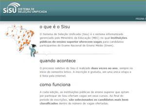 Site do Sisu (Foto: Reprodução)