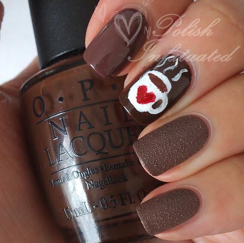 hot chocolate nail art