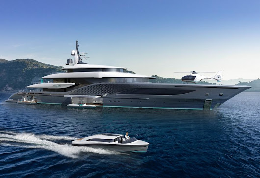 77-metre Quantum superyacht project by Ken Freivokh and Turquoise - Yacht Harbour