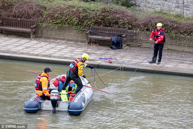 Specialist police diving teams have been searching the River Medway but found nothing on Friday