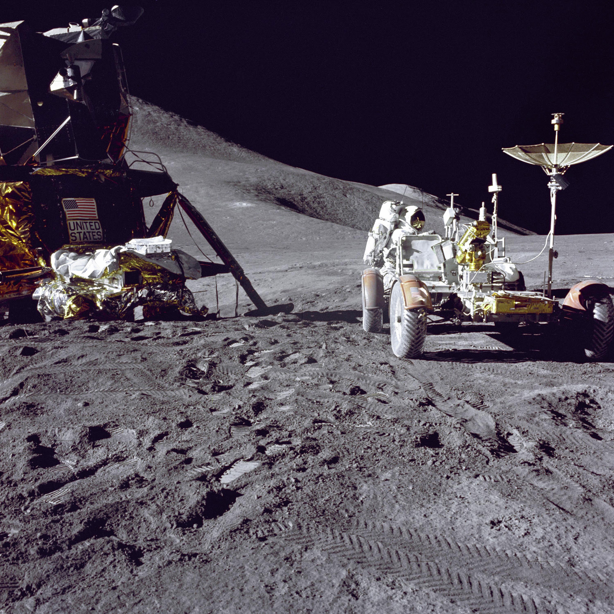 On This Day in Space! July 31, 1971: Apollo astronauts drive on the moon #rwanda #RwOT