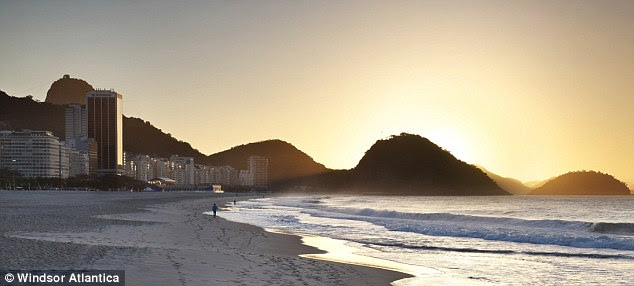 Bathed in sunlight: England will enjoy one of the finest locations Rio has to offer
