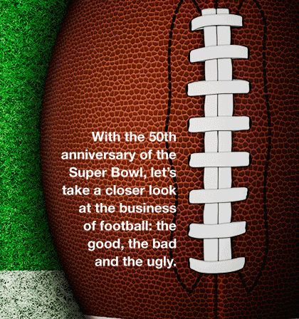 First and Gold: 50 Years in The Business of Football [infographic]