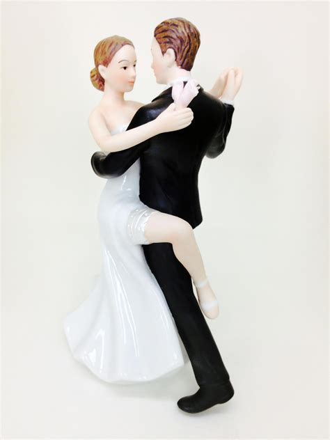 """Super Sexy Dancing"" Wedding Bride and Groom Cake Topper"