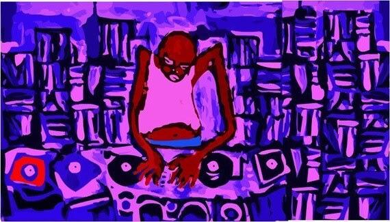 Blues DJ Spins Records In Juke Joint Mississippi Graffiti Rap Outsider Art
