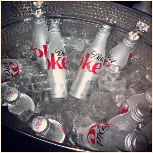 LE FASHION BLOG INSTAGRAM DIET COKE GLAMOUR PARTY CHILLED BOTTLES RE DESIGN NEW