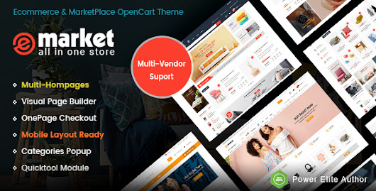 Download eMarket - The eCommerce & Multi-purpose MarketPlace OpenCart 3 Theme (Mobile Layouts Included) nulled | OXO-NULLED