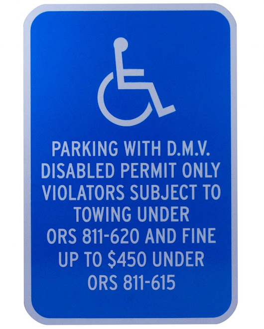Custom ADA Permit Parking Signs With Statutes | Stonehouse Signs