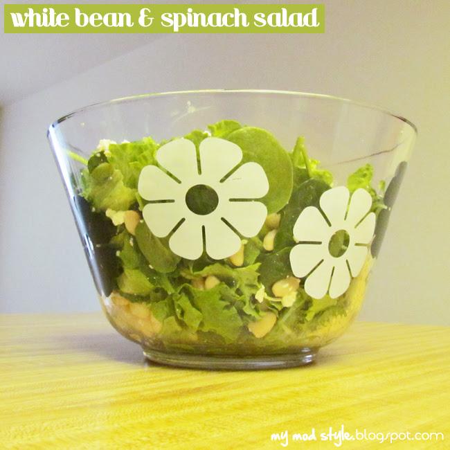 Meal white bean salad