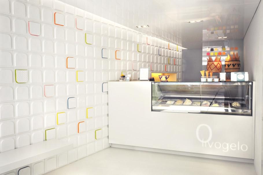 Interior design of Olivogelo ice-cream shop, London « Adelto Adelto