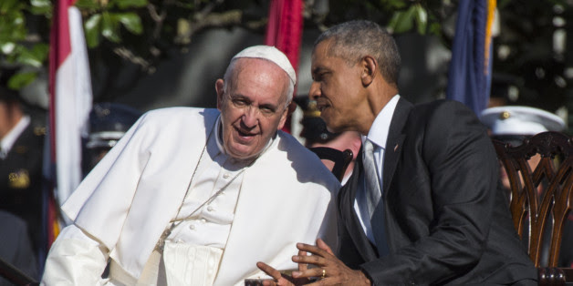 Image result for obama and pope francis