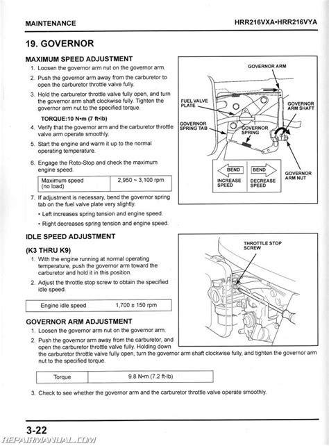 Honda HRR216VXA HRR216VYA Service Manual