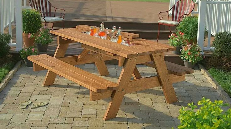 BYO pinic table with cooler