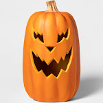 """Halloween 16"""" Lit Sharp Teeth Pumpkin Decorative Halloween Prop Orange - Hyde & EEK! Boutique"""