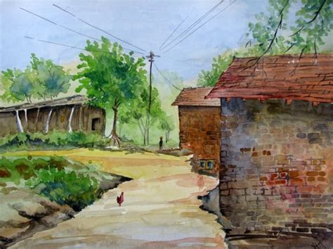 Indian villages life paintings,pictures   cini clips