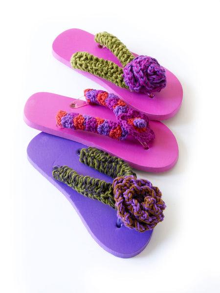Posy Ruffle Flip Flops Pattern Free Crochet Pattern