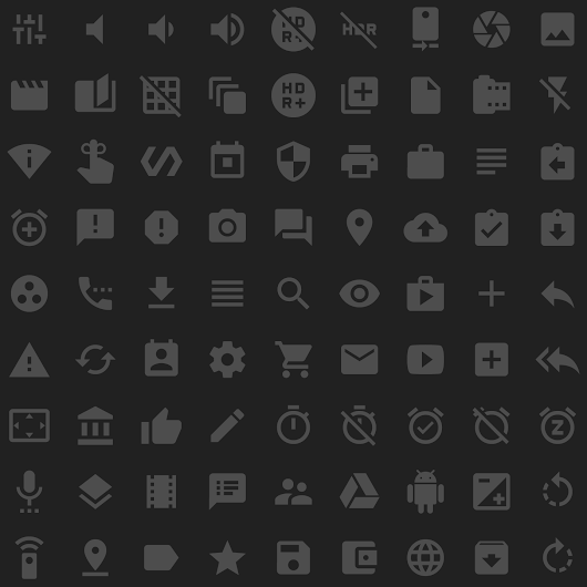 Material icons - Google Design