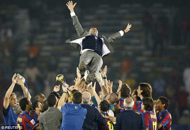 Guardiola went on to win 14 major trophies with Barcelona before moving on to Bayern Munich