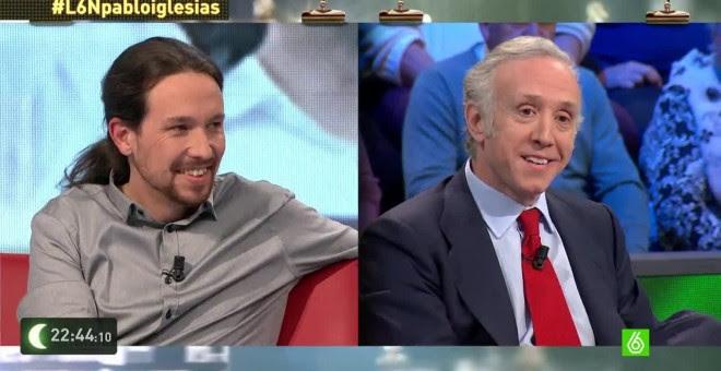 Pablo Iglesias y Eduardo Inda.