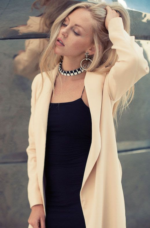Le Fashion Blog Beige Coat Black Dress Via Peace Love Shea