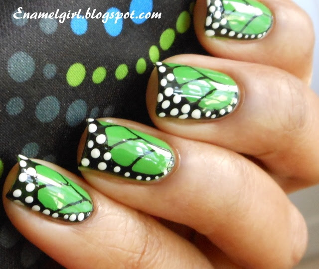 Pink And White Themed Butterfly Nail Art Design A Wonderful Pastel