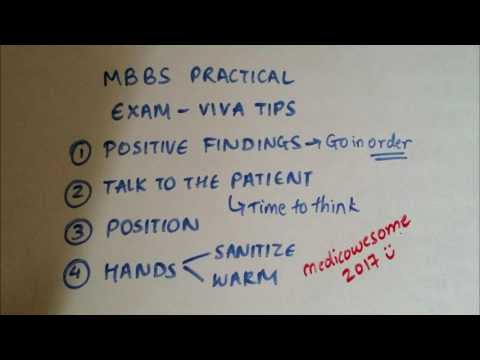 MBBS practical viva tips on examination