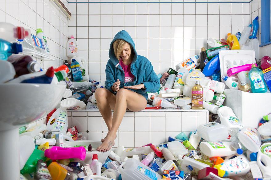 Çöplerden oluşturulan harika fotoğraflar