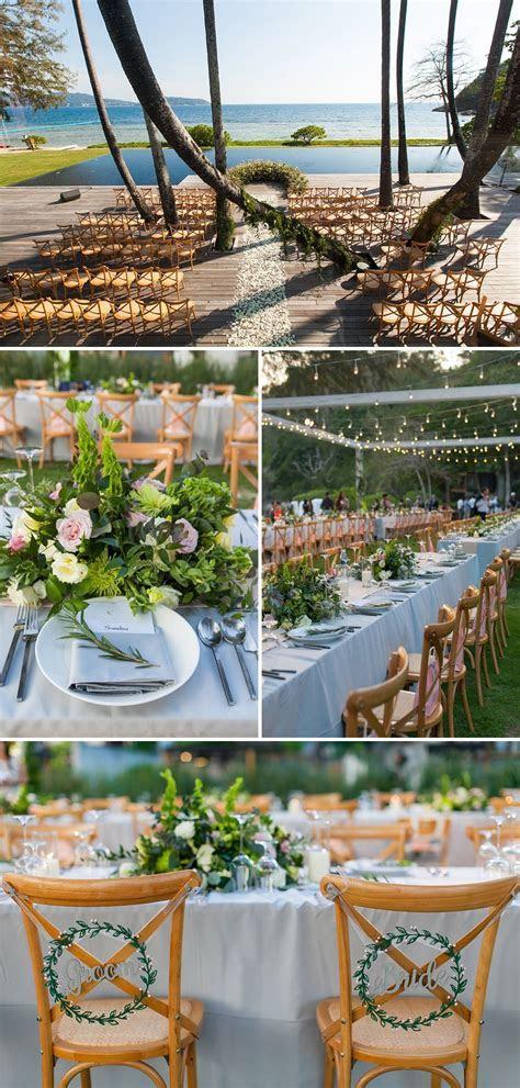 Beautiful beach wedding at The Naka Phuket, Thailand, with