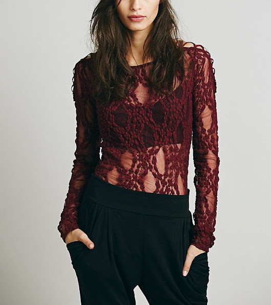 "Free People Top ""Layer Criss Cross"" F747F129 