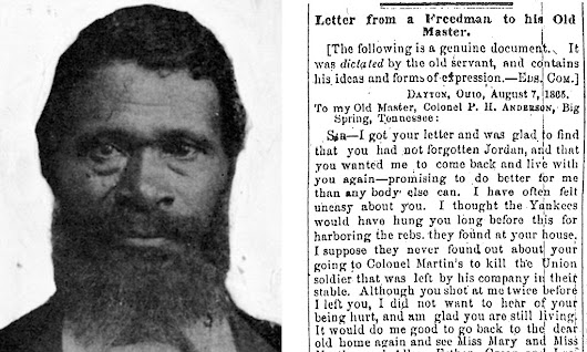 Freed slave who penned sarcastic letter to old master after he was asked back to farm pictured for first time