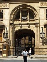Entrada al edificio Dakota, donde Lennon fue asesinado.