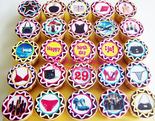 Birthday Cupcakes Edible Image
