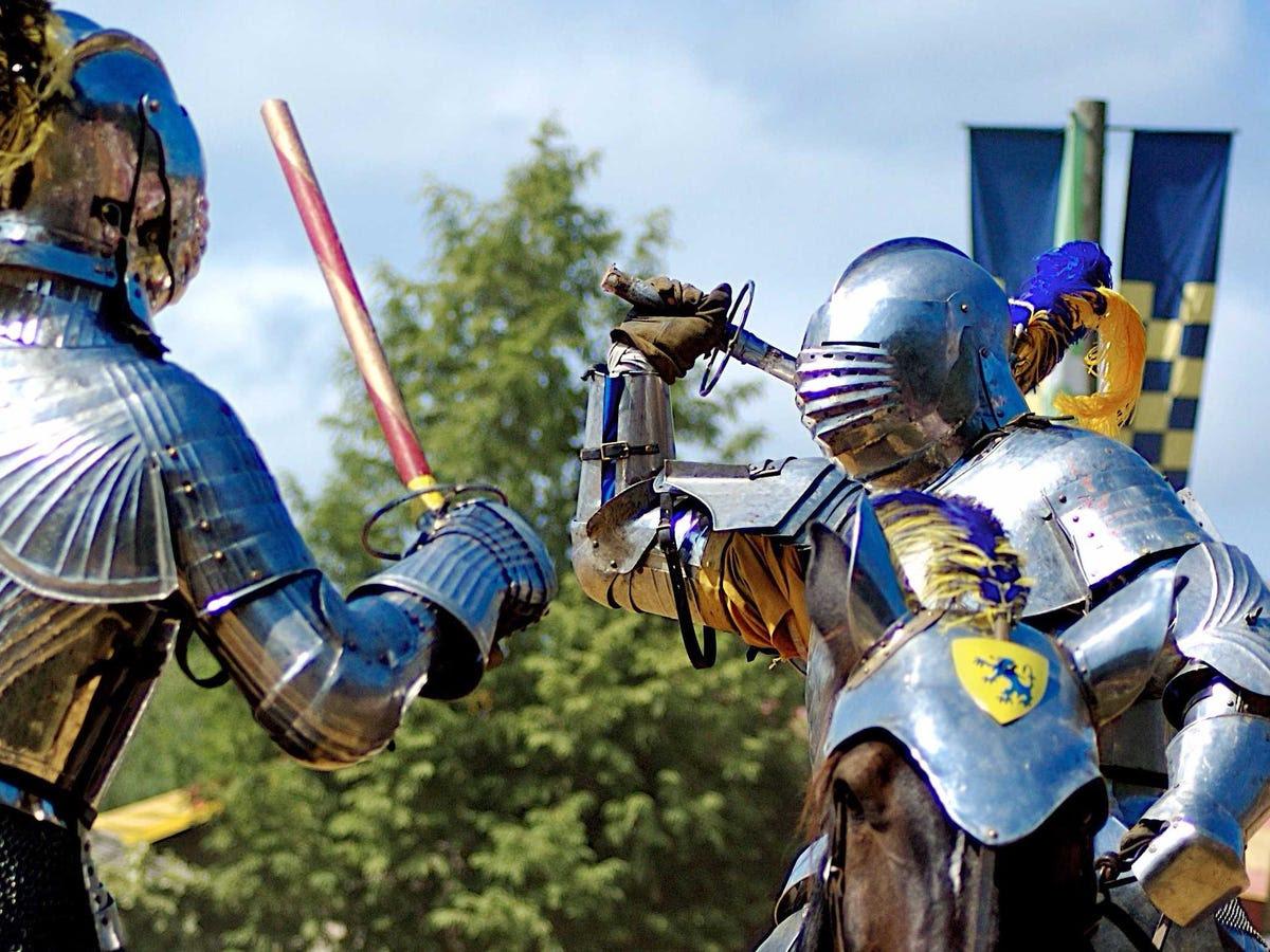 She has knights.