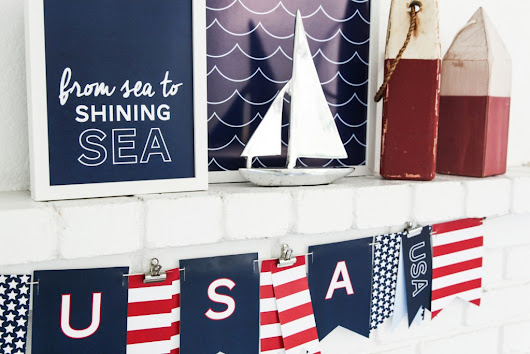 Easy DIY Fourth of July Decorations • Rose Clearfield