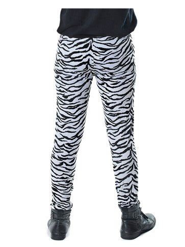 Black Zebra Print Trousers   Adult Costume   Party Delights
