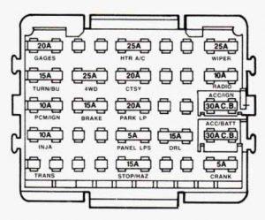 1991 Chevy S10 Pickup Fuse Box Diagram - Chevy Diagram
