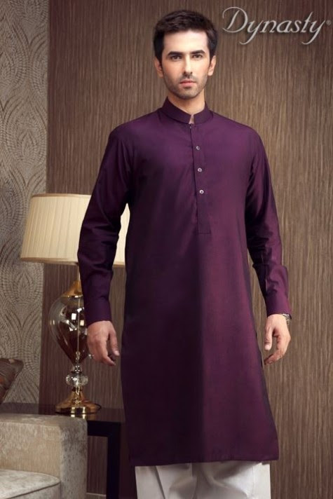 Mens-Wear-Cotton-Embroidered-Kurta-Pajama-By-Dynasty-Fabrics-New-Fall-Collection-2013-14-11