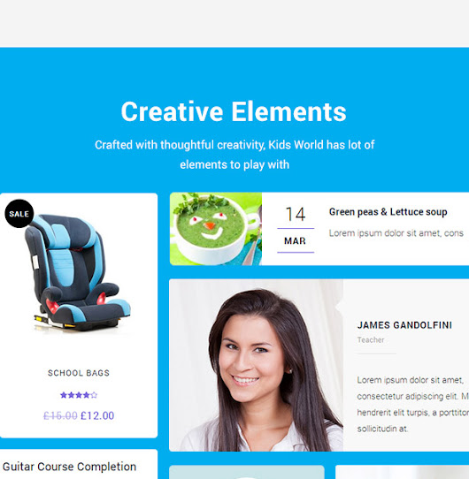 Kids World - Children, Education WordPress Theme (Business)