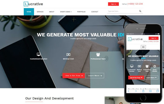 Lucrative a Corporate Business Category Flat Bootstrap Responsive Web Template