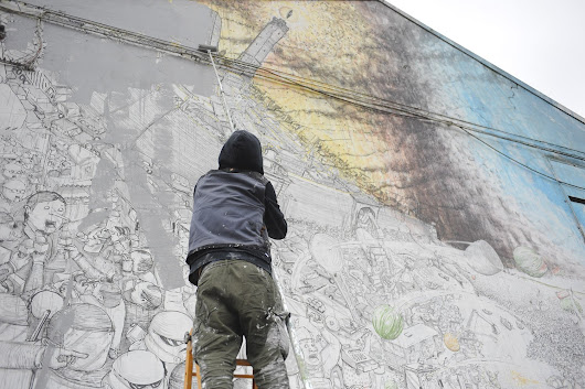 Street Artist #Blu Is Erasing All The Murals He Painted in #Bologna - Giap