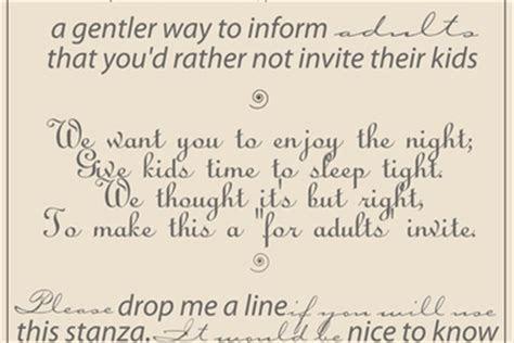 wedding invitation wording  children