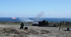 Ejercicio con fuego real en Melilla