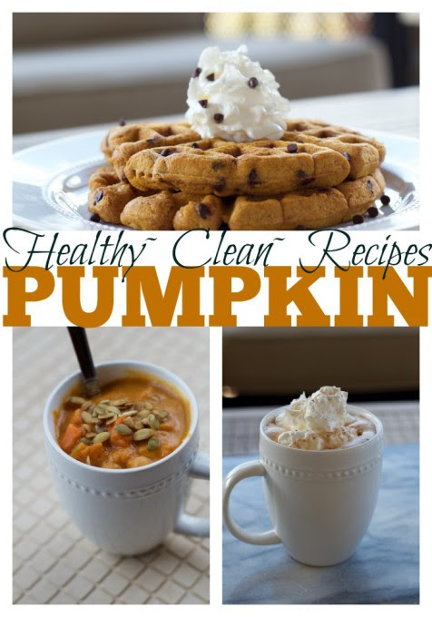 Healthy Pumpkin Recipes for Fall~Waffles, Hot Chocolate, and Curry Soup - Suitcases and Sippy Cups