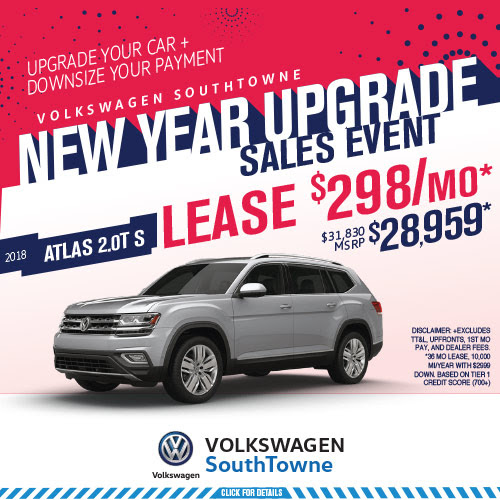 January 2018 VW Utah Specials: Upgrade your car and downsize your payment!