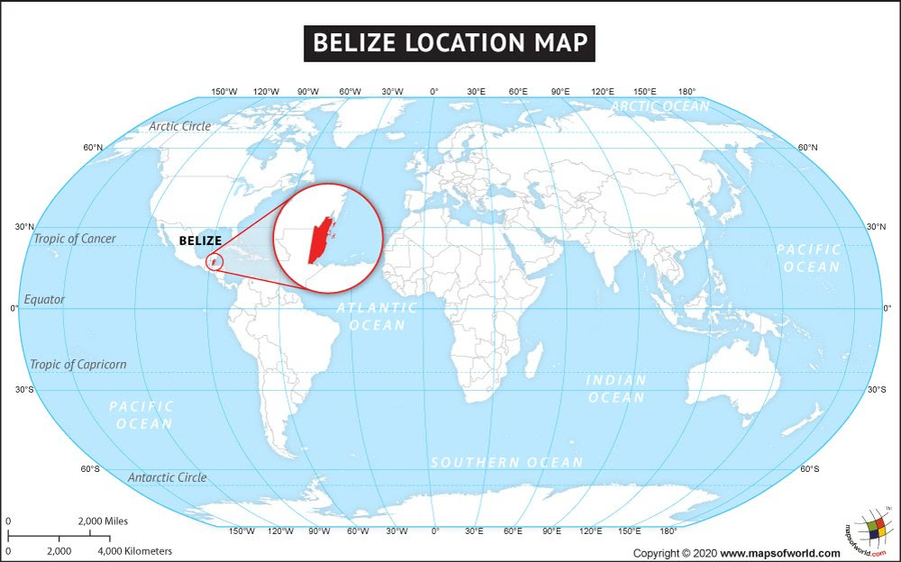 Where Is Belize Location Of Belize