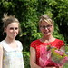 me and harriet with my winning flowers and invite to show at the Royal Festival Hall in 2 weeks