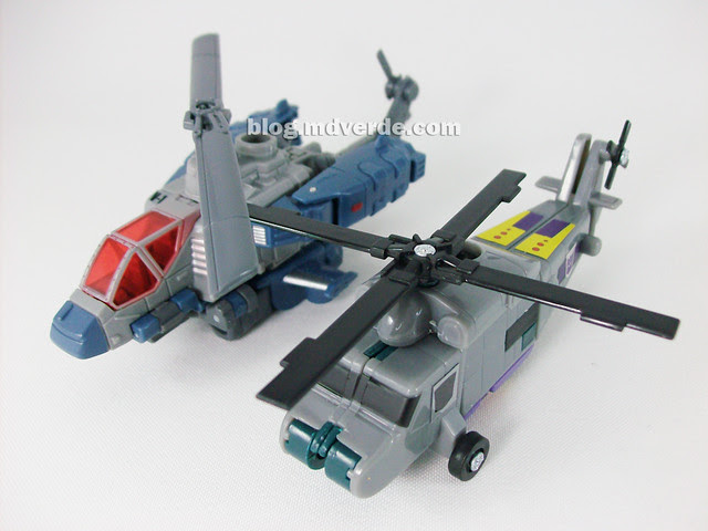 Transformers Vortex Universe Scout - modo alterno vs Vortex G1