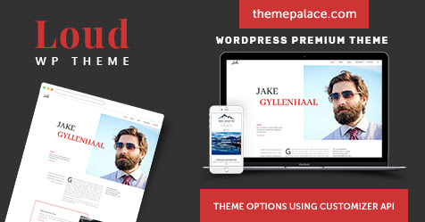 Loud is a personal and biography oriented WordPress theme
