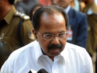 File photo of Congress leader Veerappa Moily. PTI